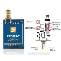 Emetteur FPV FX668T Mini 200mW* 5.8GHz 40CH Raceband ready