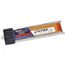 Batterie Lipo EPS 1S 220mAh 25C - prise intégrée MCX