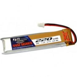 Batterie Lipo EPS 1S 220mAh 25C - prise MCX déportée