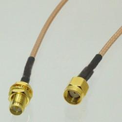 Câble d'extension RG316 100mm - RP-SMA Droit