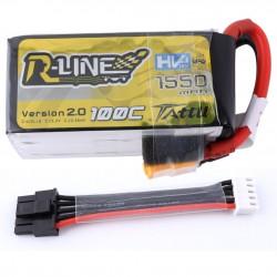 Batterie Lipo Tattu R-Line HV 4S 1550mAh 100C -DBC
