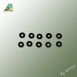 Rondelles Nylon noire 3mm (10pces)