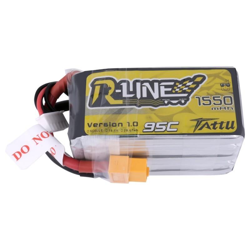 Batterie Lipo Tattu R-Line 5S 1550mAh 95C