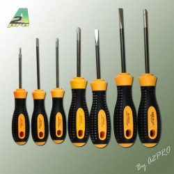 Flat and Cross-headed Screwdriver Set (7pcs)