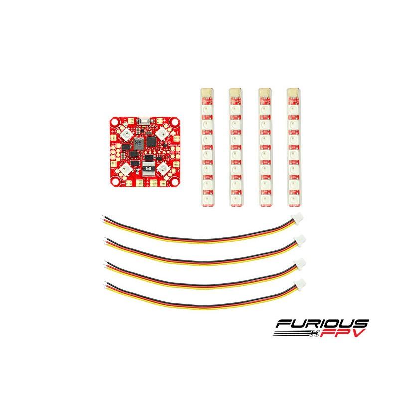FuriousFPV Lightning PDB + 4x Single Row LED Strip