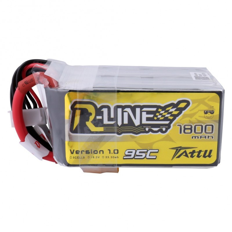 Tattu R-Line 1800mAh 95C 5S1P lipo battery pack