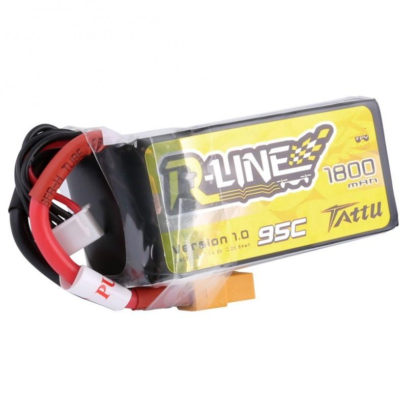 Batterie Lipo Tattu R-Line 4S 1800mAh 95C
