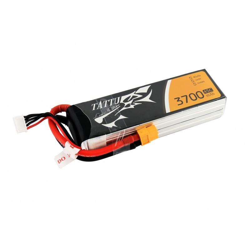 Batterie Lipo Tattu 4S 3700mAh 45C