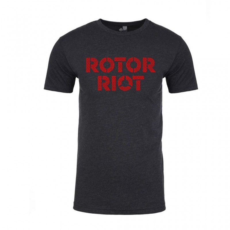 Rotor Riot Skull Pattern T-shirt