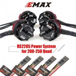 EMAX RS2205 2300KV 2600KV RaceSpec Brushless Motor With 3-4S 30A BLHeli Lightning ESC Power Combo