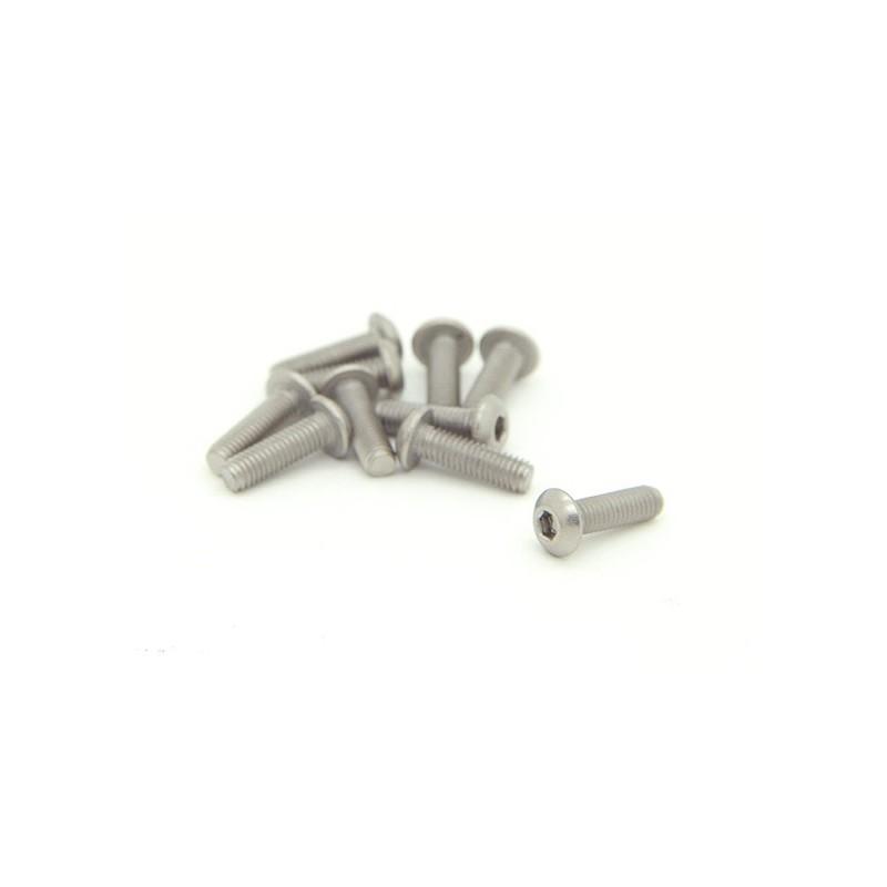 M3x10mm Titanium Screws - 10pces