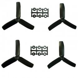 Hélices Tripales HQProp 4x4x3 renforcées fibres (4 pces) -2x CW + 2xCCW