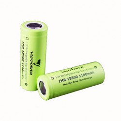 Li-ion 18500 1100mAh battery (2 pcs)