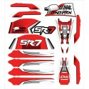 Stickers for SR-7 frame - Red