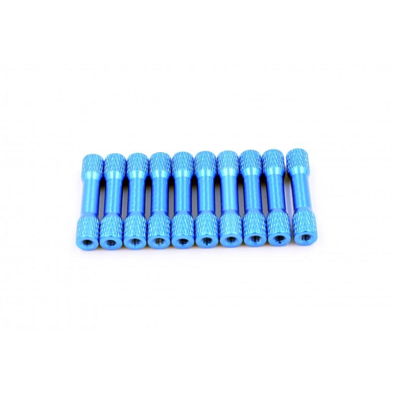 Entretoises moletées 20mm x M3  (10pces)