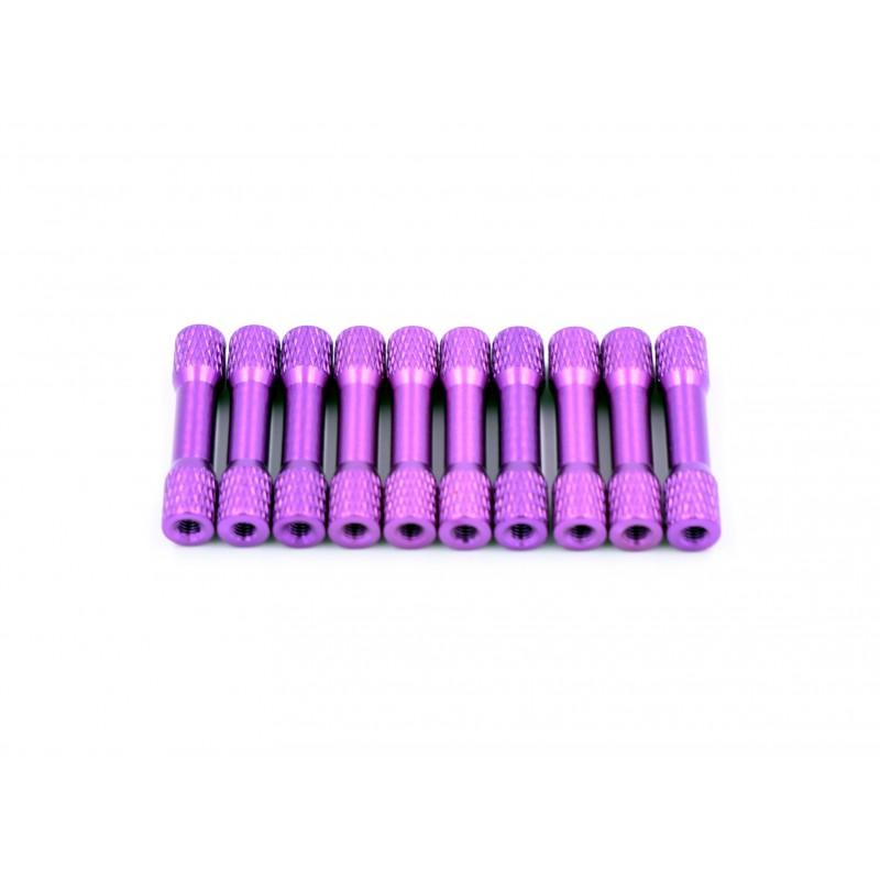 Entretoises moletées 30mm x M3 (10pces)