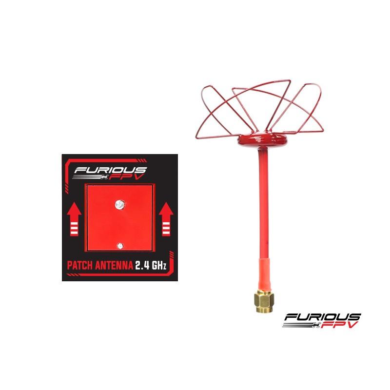 FuriousFPV Circular Antenna RHCP + Patch antenna 2.4GHz - SMA
