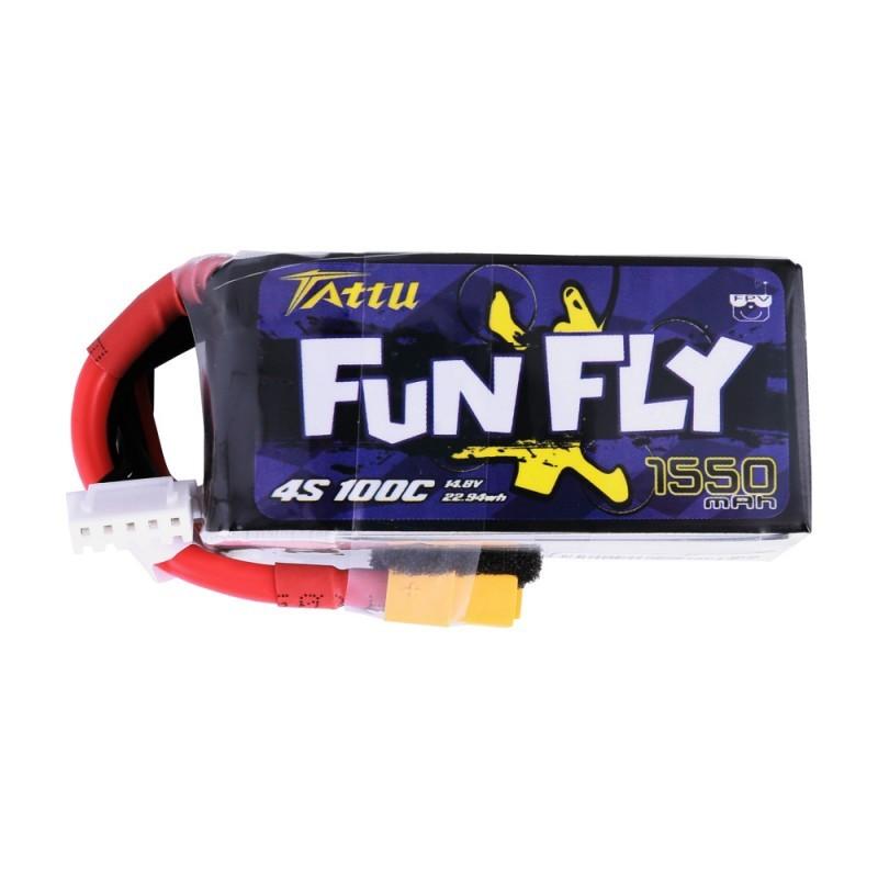 Tattu FunFly Lipo Battery 4S 1550mAh 100C