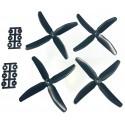 Hélices Quadripales HQProp 5x4x4 renforcées fibres (4 pces) -2x CW + 2xCCW