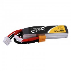 Batterie Lipo Tattu 2S 450mAh Long Size 75C - XT30