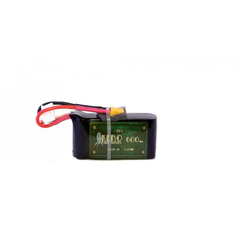 KERO 4S 600MAH 80C Race Grade Lipo Battery