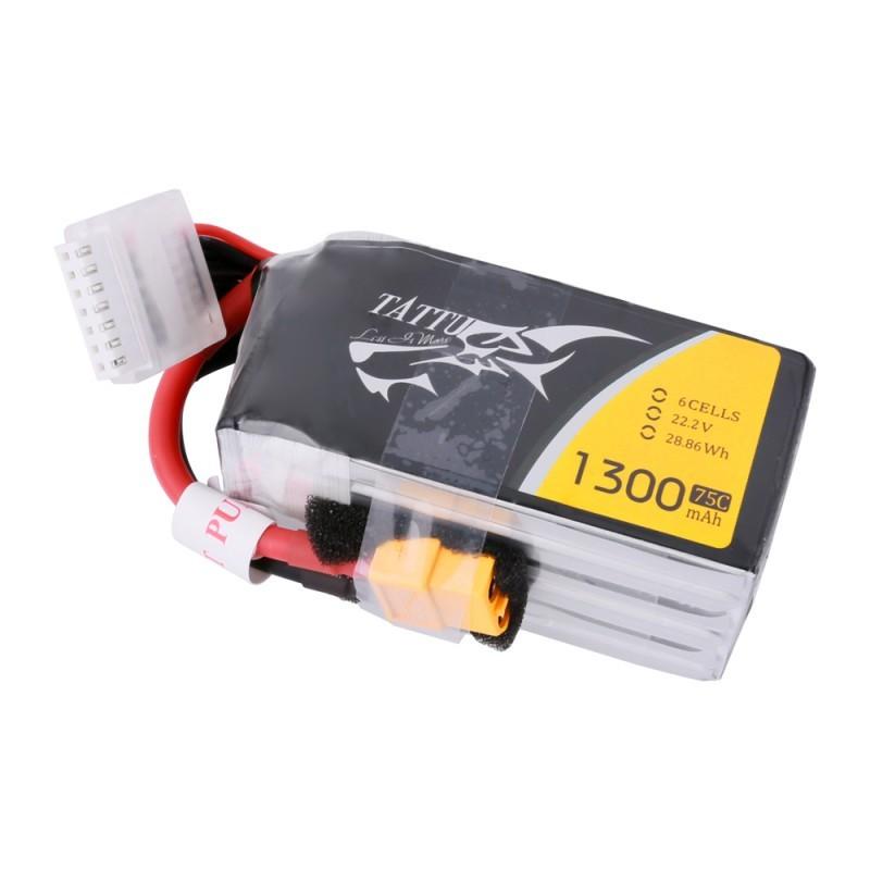 Tattu 6S 1300mAh 75C Lipo Battery