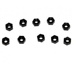 Black Nylon Nut M2 - 10pces