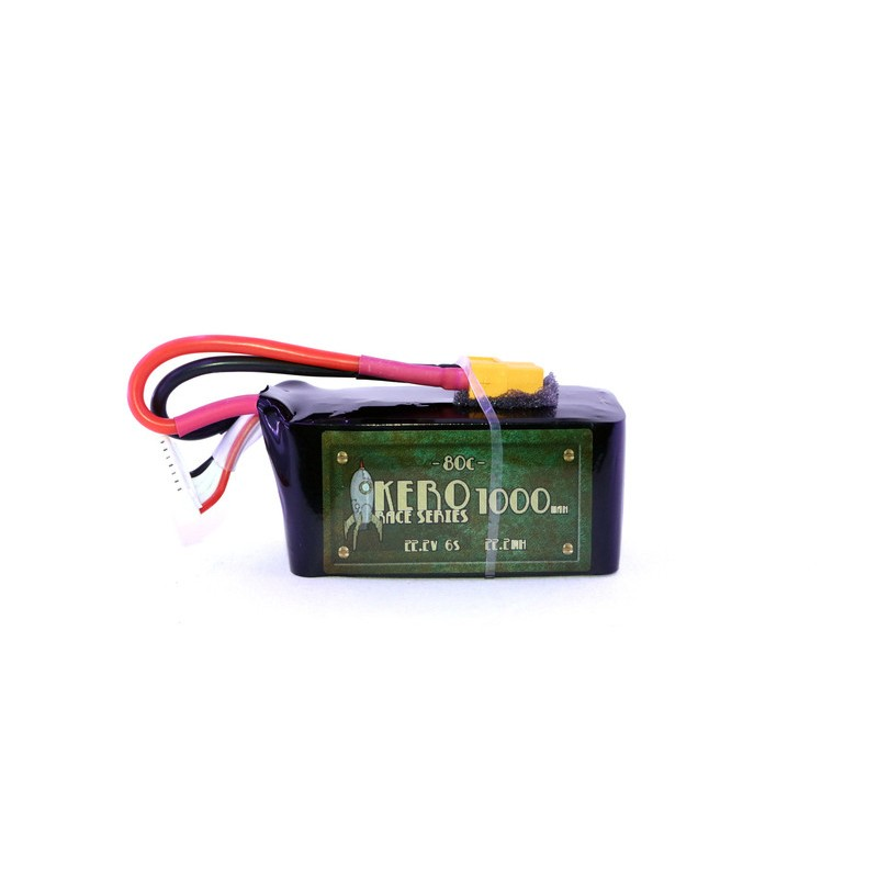 KERO 6S 1000mah 80C Lipo Battery