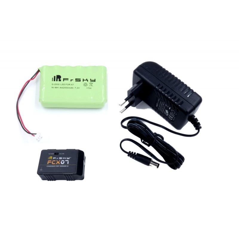 FCX07 charger + NiMh Battery Pack for FrSky Taranis Q X7