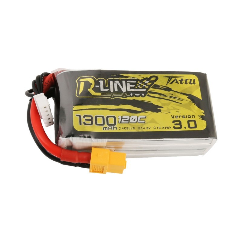 Batterie Lipo Tattu R-Line 4S 1300mAh 120C - Version 3.0