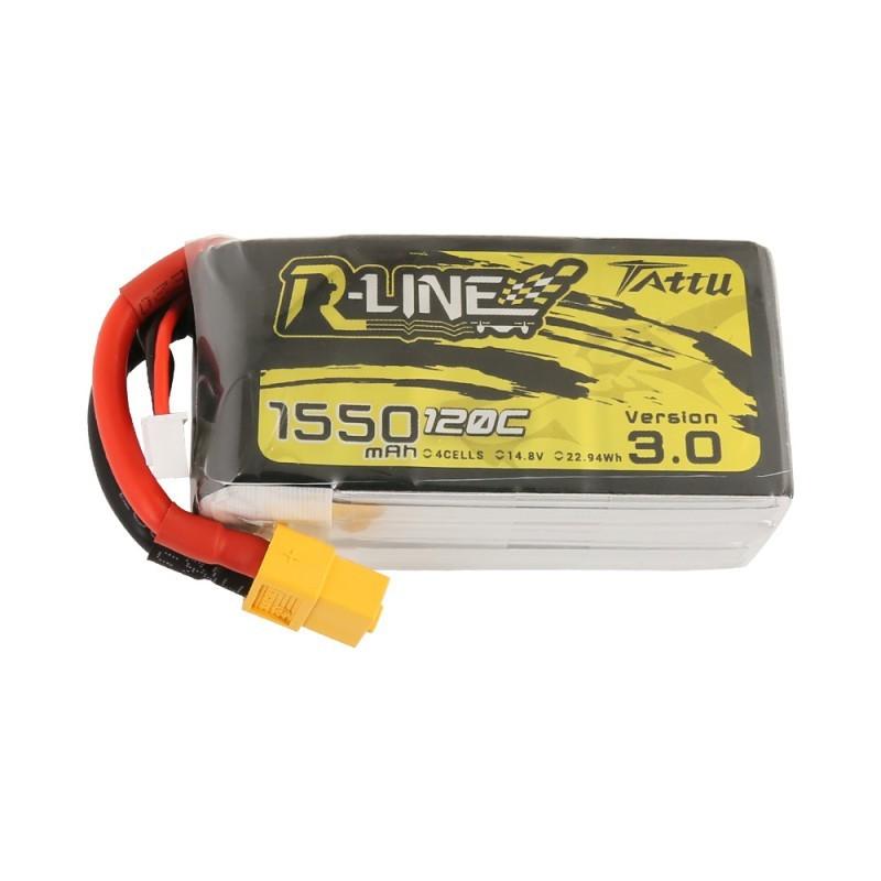 Batterie Lipo Tattu R-Line 4S 1500mAh 120C - Version 3.0