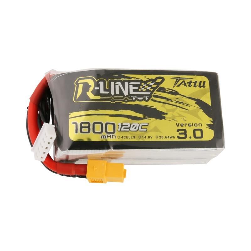 Batterie Lipo Tattu R-Line 4S 1800mAh 120C - Version 3.0