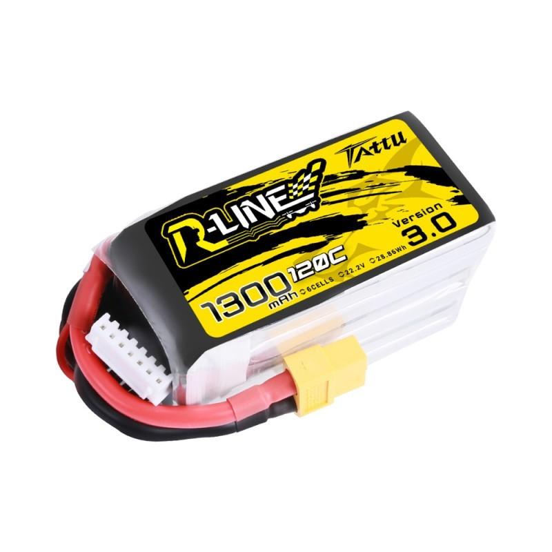 Batterie Lipo Tattu R-Line 6S 1300mAh 120C - Version 3.0