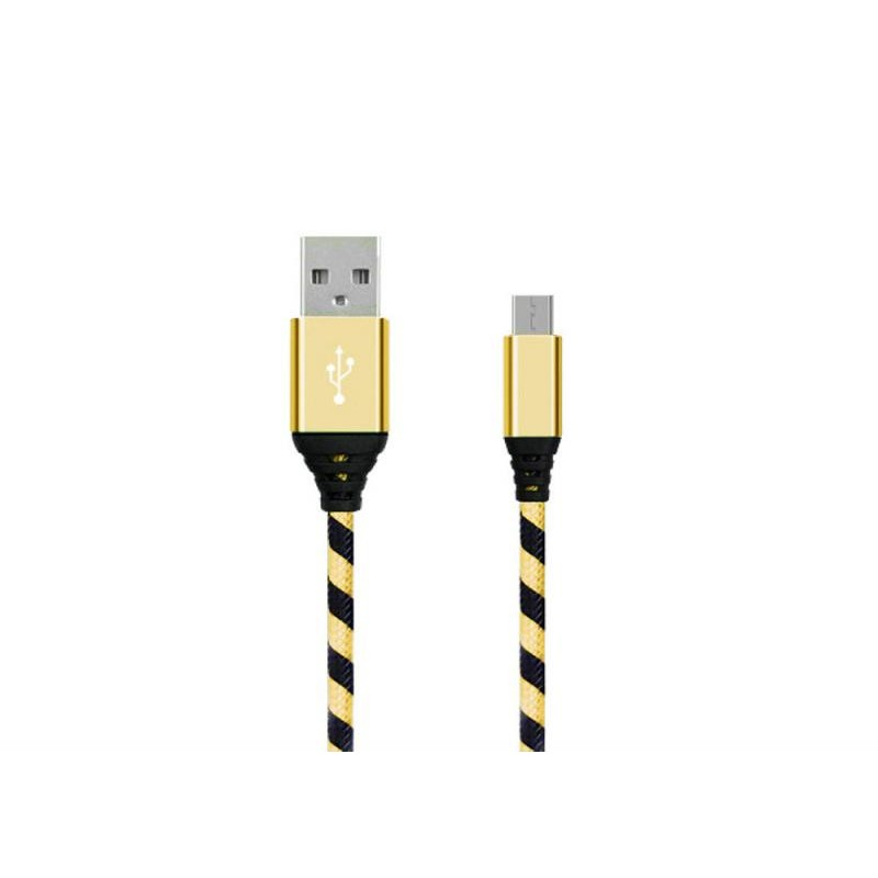 Micro USB Cable - Black/Gold