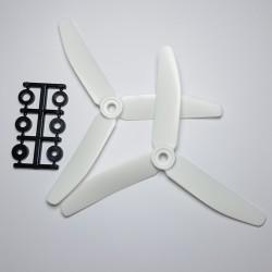 """Hélices Tripales HQProp """"MetallDanny"""" 5x4x3 renforcées fibres (4 pces) -2x CW + 2xCCW"""