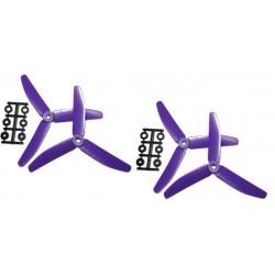 Hélices Tripales HQProp 5x4x3 renforcées fibres (4 pces) -2x CW + 2xCCW