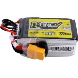 Tattu R-Line 4S 850mAh 95C Lipo Battery (XT60)