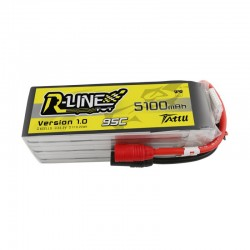 Batterie Lipo Tattu R-Line 6S 5100mAh 95C (AS150)