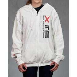 Xnova Zipped Hoodie - White