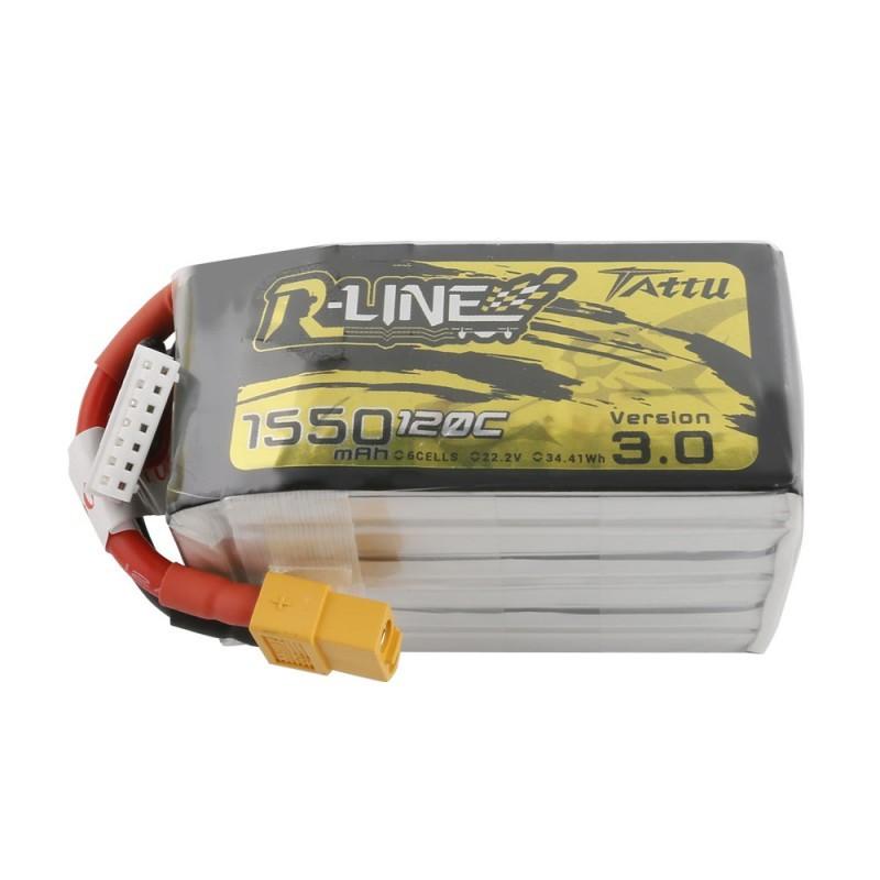 Tattu R-Line Version 3.0 1550mAh 6S 120C Lipo Battery Pack