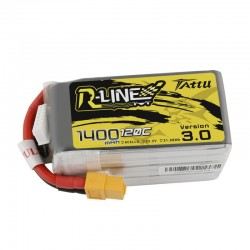 Batterie Lipo Tattu R-Line 6S 1400mAh 120C - Version 3.0