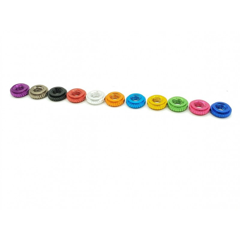 2mm Anodized Stack Spacers - 10pcs