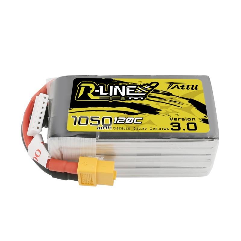 Tattu R-Line Version 3.0 1050mAh 6S 120C Lipo Battery Pack