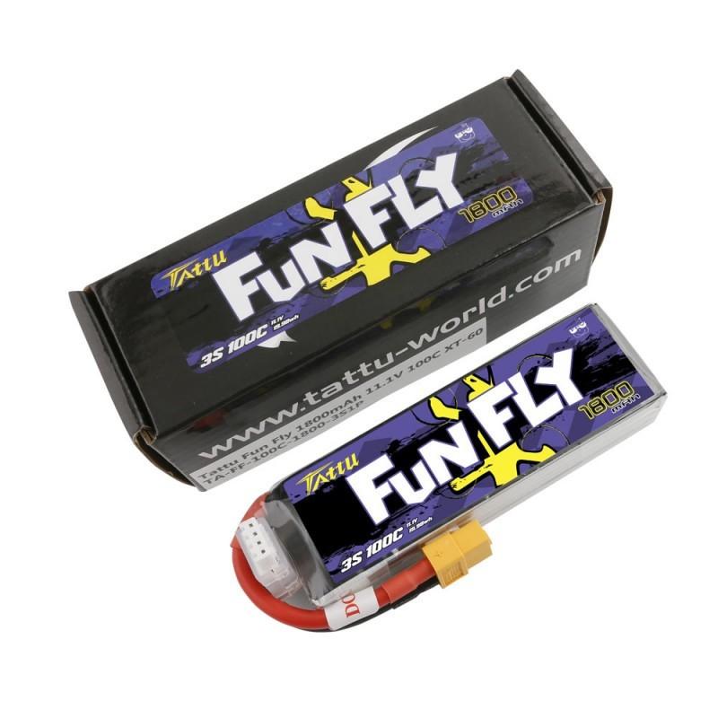 Batterie Lipo Tattu FunFly 3S 1800mAh 100C
