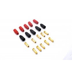 AS150 7mm Anti Spark Self Insulating Gold Bullet Male Connector (5Red+5Black)