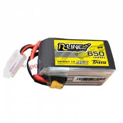 Batterie Lipo Tattu R-Line 6S 650mAh 95C (XT30)