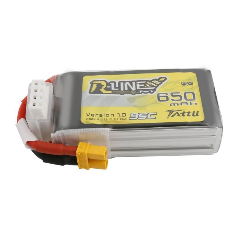 Batterie Lipo Tattu R-Line 3S 650mAh 95C (XT30)