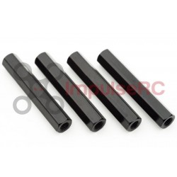 Standoff M3 Aluminium HEX 5MM X 28MM Black (4 Pack)