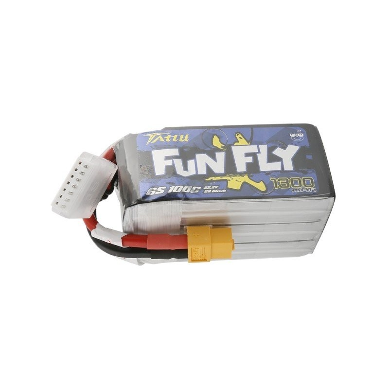 Tattu FunFly Lipo Battery 6S 1300mAh 100C