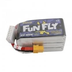 Batterie Lipo Tattu FunFly 6S 1550mAh 100C